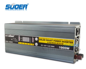 Suoer LED Display 1000W 12V DC Power Inverter with Charger (HBA-1000C) pictures & photos
