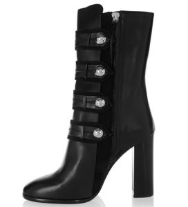 New Arrival Classical Black Women Boots with Side Zipper (HS17-076)