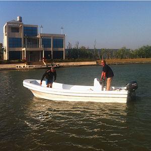 Ce Certification Fiberglass Pontoon Boat for Sale pictures & photos