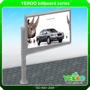 Flag Shape LED Outdoor TV Billboard Wooden Box Backlight Advertising Display pictures & photos