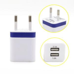 Dual USB EU Plug Charger Power Adapter for iPhone 5