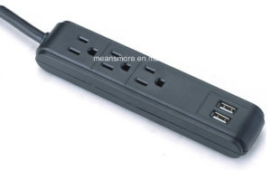 Power Strip with 2 USB Outlets ETL Approval pictures & photos