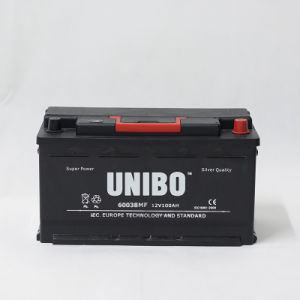 Truck Battery Mf 60038 Maintenance Free 12V100ah Car Battery Auto Battery pictures & photos