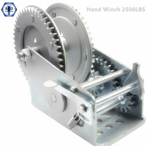 2500lbs Hand Winch Marine Winch Dacromet pictures & photos
