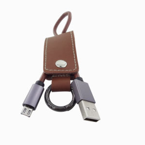 2016 Leather Keychain USB Cable for Samsung S7/S7 Edge pictures & photos