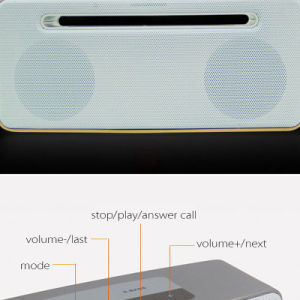 5W*2 Support Handsfree Function Portable Bluetooth Car Speaker pictures & photos