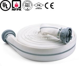 Double Jacket Ageing Resistance of PU Canvas Fire Hose pictures & photos