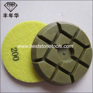 Cr-14 Resin Bond Diamond Rigid Polishing Pads for Wet or Dry Polishing Concrete Floor