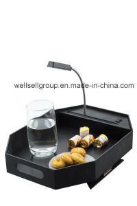 Sofa Clip Tray/ Bed Tray with Lamp for Promotional pictures & photos