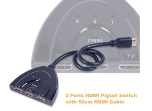 HDMI 3 Into 1 Switch Video Splitter Hub pictures & photos