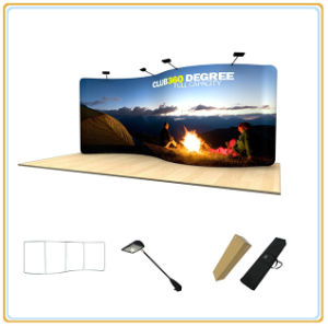 Curved Tension Fabric Back Wall Display/Tradeshow Stand (20FT S Curved) pictures & photos