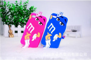 Cartoon M&M Bean Beauty White Gloves Boots Silicone Case Mobile Phone Accessories (XSR-018) pictures & photos