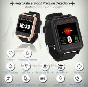 2g/GSM Elderly Waterproof GPS Tracker Watch with Heart Rate Monitor Y12 pictures & photos