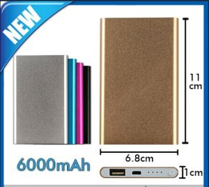 6000mAh Portable USB External Battery Power Bank pictures & photos