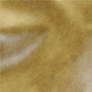 Two-Tone Oily and Waxy Feel Home Furniture Sofa PVC Leather pictures & photos