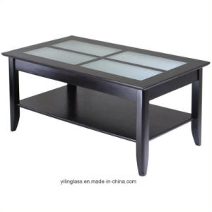Color Pattern Fritted Coffee Table Top Glass pictures & photos