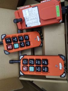 6 Single Speed Push Button Wireless Remote Control for Grab Crane, Overhead Crane, Single Gider Crane pictures & photos