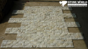 Mixed White Mushroom Quartz Tiles for Wall Panel (CS060) pictures & photos