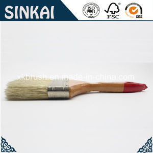 Flat Painting Brush with Wood Handle and Mixed Bristles pictures & photos