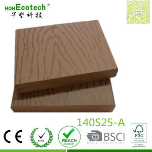 140mm Wide Outdoor Wood Board Embossed WPC Decking Rot-Resist Floor pictures & photos