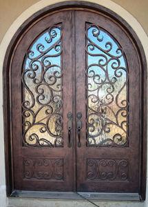 Custom Round Top Wrought Iron Front Door pictures & photos