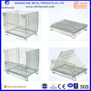 Top Sale Industrial Logistic Medium Foldable Wire Container/Box for Storage pictures & photos