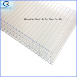 10-Year Quality Guarantee Excellent Light Transmission Twinwall Polycarbonate Hollow Sheet pictures & photos