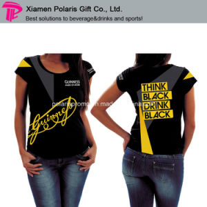 Guinness Marketing Promotion Women′s Tee Shirt with Slim Cut Style pictures & photos