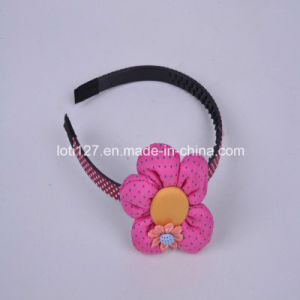 Pink Flower Modelling Big Hair Hoop, Hair Fashion, Young Girl Style, Fashion Tiaras