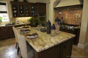 Kitchen Furniture Dark Walnut Color Kitchen Cabinets (dw4) pictures & photos