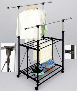 Foldable Double Layer Clothes Hanger pictures & photos