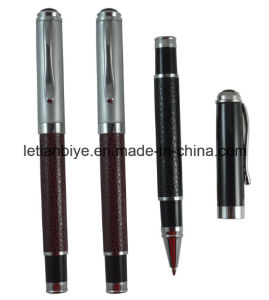 Free Samples Metal Leather Gel Ink Pen (LT-D017) pictures & photos