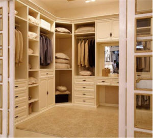Customized Modern Design L- Shape Walk-in Bedroom Wardrobe pictures & photos