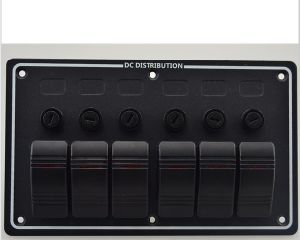 Excellent 6 Gang 12V 24V Aluminum LED Rocker Switch Panel with Circuit Breakers pictures & photos
