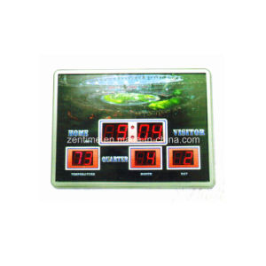 Electronic LED Digitak Sport Theme Wall Calendar Clock pictures & photos