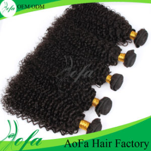 Guangzhou Aofa Hair 100% Brazilian Virgin Hair Kinky Curly Remy Hair Extension pictures & photos