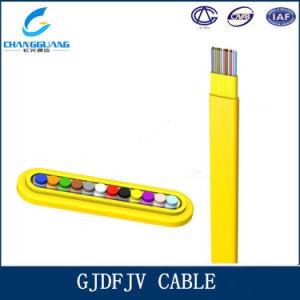 Gjdfjv Indoor Flat Fiber Ribbon 12 Core Multi Mode 62.5/125 Fiber Cable pictures & photos