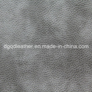 Solvent Free PU Leather for Sofa Qdl-50208 pictures & photos