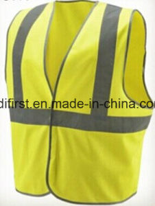 Lime Class 2 High Visibility Safety Vest with Hook & Loop Closure pictures & photos