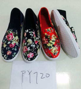 Hottest Adult Fabric Injection Canvas Shoes Leisure Shoes (PY1018) pictures & photos