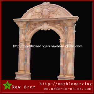 Decorative Marble Door Frame with Figure Design pictures & photos