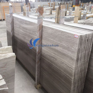 Polished Light Grey Wood Marble pictures & photos