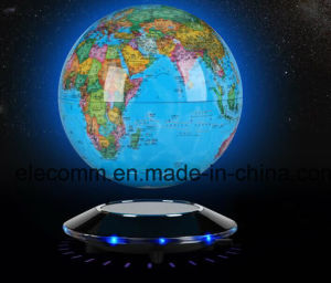 Electro-Magnetic Levitation Globe Display with Inductive Lighting Christmas Gift