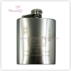 3 Ounce Laser Print Logo Stainless Steel Liquor/Whisky Hip Flask pictures & photos