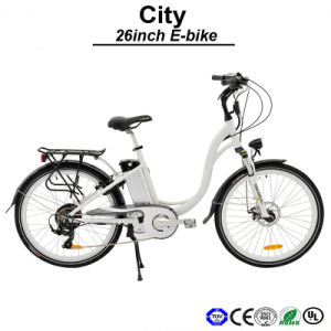 Front Hub Motor Electric Bike Urban E-Bicycle Lady Electric Bicycle City E-Bike (TDF01Z) pictures & photos