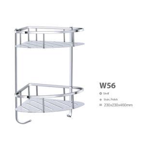 Corner Stainless Steel Bathroom Accessories Net/ Storage Rack Shelf (W56) pictures & photos