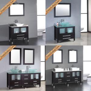Fed-1888 Hot Sales Double Sinks Glass Top Modern Bathroom Vanities pictures & photos