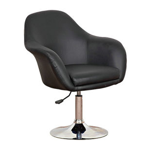 Black Color PU Sofa Bar Chair with Round Base (FS-T6069) pictures & photos