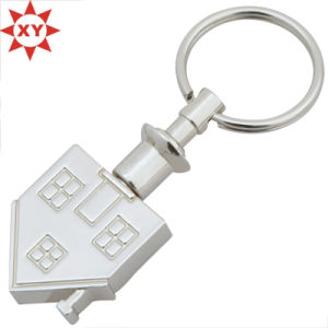 Wholesales Custom House Shape Metal Keychain pictures & photos