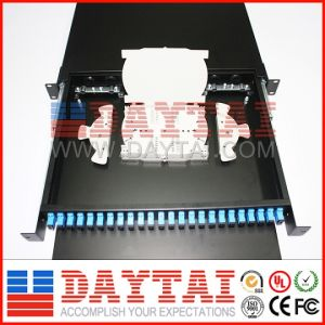 12-144 Core Fiber Optic ODF Rack Mount Drawer Type 24 Port ODF for Sale pictures & photos